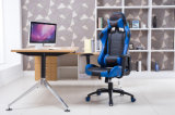 Het Rennen van het Gokken van de computer de Stoel van het Bureau met het Lumbale Blauw van de Steun