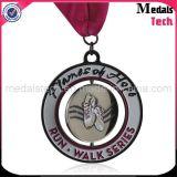 Morrer medalhas bonitos dos miúdos do corredor do metal feito sob encomenda do revestimento antigo do molde