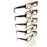 Crémaillère d'étalage neuve de bâti en verre d'oeil de lunettes de soleil du modèle 6-Pair de mode