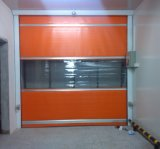 Porte industrielle à grande vitesse automatique d'obturateur de rouleau de PVC de bâti en aluminium