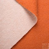 100%のオレンジの冬の季節の二重側面のカシミヤ織ファブリック