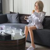 Muñeca llena del sexo de la carrocería del producto del sexo con el juguete adulto del sexo del pie del soporte