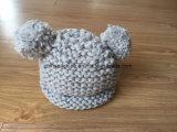 Protezione calda lavorata a maglia Crochet sveglio del pattino del pattino del bambino dei capretti del bambino del cappello del Beanie delle orecchie di gatto (CPHC-7006X)