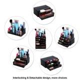 Cajas de presentación cosméticas de los cajones del almacenaje del organizador del maquillaje de acrílico