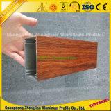 Extrusão de alumínio em grão de madeira para janelas e portas