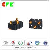 Conectores de contato personalizados Pogo com 3 pinos SMT Spring Loaded