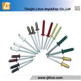 DIN7337カラーアルミニウムまたは鋼鉄かステンレス鋼のリベット