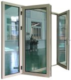 Puerta de cristal del marco de aluminio termal de la rotura del impacto del huracán de la alta calidad (ACD-024)