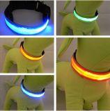 작은 개를 위해 번쩍이는 LED를 가진 Coloruful 개 목걸이