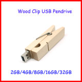 Flash Drive de disco USB Pendrive de madera de memoria Flash USB Clip Thumbdrive USB2.0