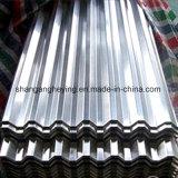 Ondulé enduit galvanisé de zinc en acier pour la tuile de toiture