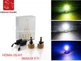 Do jogo automático do farol do jogo H1 da conversão do farol do diodo emissor de luz lâmpada principal do diodo emissor de luz