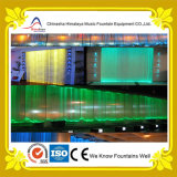 Fonte decorativa interna pequena da cortina de água com luzes do diodo emissor de luz