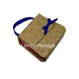 Vente en gros de caisse d'emballage de bijou de cadeau de papier de carton de l'or Jy-Jb96