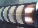 Er70s-6/alambre de soldadura hermético a los gases revestido de MIG del sólido del cobre del CO2