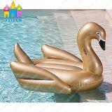 、膨脹可能な白鳥ピザ膨脹可能な、水プール金白鳥のプールの浮遊物