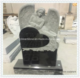 Pure Black Heart Monument voor Grafsteen Funeral
