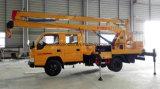 Caminhão de trabalho de 15 metros de cabine dupla de alta altitude