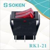 照らされた二重ロッカースイッチを離れたのSoken Rk1-21