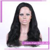 卸し売り自然なヘアライン人間の毛髪の完全なレースの前部かつら