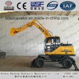 China hizo la máquina de los excavadores del excavador Bd95 de la rueda con el compartimiento grande para la venta