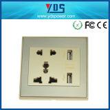 5V 2.1A de Dubbele Contactdoos van de Muur USB met het Algemene begrip van de Contactdoos 16AMP