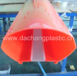 Rotes PMMA Extrusion Profile für Sinage
