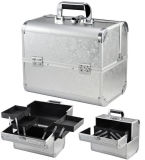 Caso cosmético Tvcm-3602 da vaidade das malas de viagem portáteis de alumínio permanentes da composição