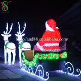 عيد ميلاد المسيح زخرفة [لد] [سنتا] كلاوس أضواء