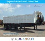 2개의 차축 Bogie 현탁액 덤프 팁 주는 사람 또는 반 덤프 트럭 트레일러