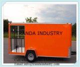 De mobiele Bestelwagen van het Voedsel met de Luifel van de Regen en Ce- Certificaat