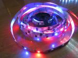 개별의 5m 60LEDs/M 디지털 Lpd8806 RGB LED 지구 비 방수 PCB