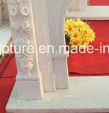 Fleurs chaudes de bordure de cheminée de marbre de modèle de mode de vente (SY-MF138)