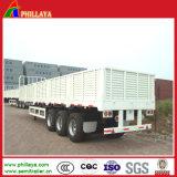 reboque da carga de maioria da capacidade 80ton Semi com fechamentos dos Sidewalls/
