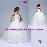 Ballkleid-Hochzeits-Kleid der Prinzessin-mit schnüren sich oben zurück