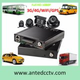 3G / 4G / GPS / Wi-Fi disco duro SSD de 4 canales DVR portátil con la grabación de 1080p para vehículo Bus del carro del coche