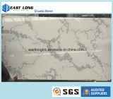 De marmeren Steen van het Kwarts Calacatta van de Kleur Witte voor Countertop van de Keuken van de Bovenkant van de Lijst van de Oppervlakte van Bouwmaterialen Stevige