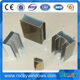 Châssis de fenêtre en aluminium de revêtement de poudre pour le guichet de glissement/profil en aluminium pour Windows