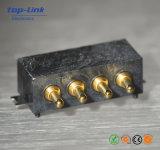 Hohe Präzisions-Vergoldung Pogo Pin-Batterieverbinder