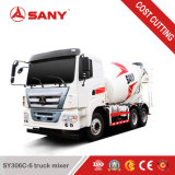 Sany Sy306c-6 6m3 작은 트럭 믹서 구체적인 섞는 트럭 가격
