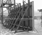 Einseitige Schalungen für Stützmauer