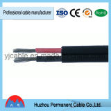 Cable solar del picovoltio de la base doble aprobada 2*4mm2 del TUV