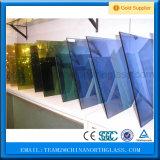 Il verde grigio Bronze blu ha tinto il prezzo di vetro riflettente colorato