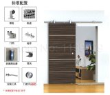 Kits de sistema de hardware de porta de celeiro de madeira deslizante moderno