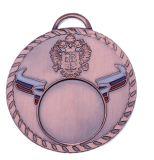 Médailles de bronze argentées d'or