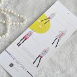 Étiquette du fabriquant de fantaisie de femmes colorées pour le vêtement