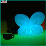 Decro LEDはDecroの卓上スタンドの蝶ランプをつける
