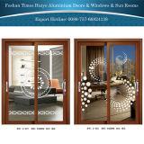 台所またはバルコニーのための新しいカラー新しいデザインアルミニウムハングのドア