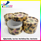 Коробка слойки порошка печатание леопарда круглая