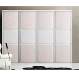Wardrobe branco da porta deslizante do PVC (Zh054)